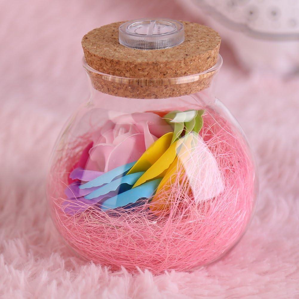 LED RGB lámpara romántica rosa botella color de luz cambiante decoración de la boda con control remoto(ROSA)