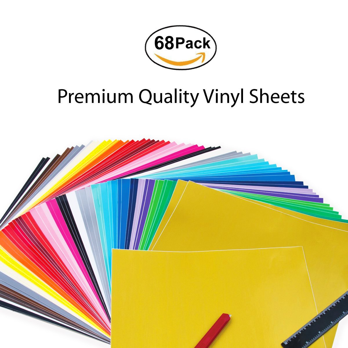 30 Adhesive Craft +10 Transferbandbl/ätter 60 Vinylfolien 30cm*30cm ImnBest 80 Pack Permanent Selbstklebende Vinylfolien Set 10 PCS DIY Craft Vinyl Plotter Zubeh/ör 12x 12