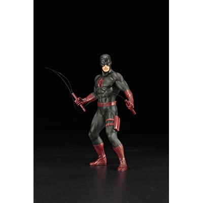 Kotobukiya The Defenders Series Daredevil Black Suit Artfx+ Action Figure: Toys & Games