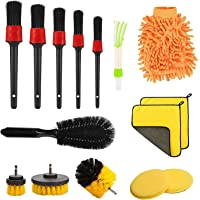 Car Cleaning Brush Set, Hyacinthy 15 Pcs Car Care Detail Cleaning Brushes kit, Electric Drill Brush, Wheel Cleaning…