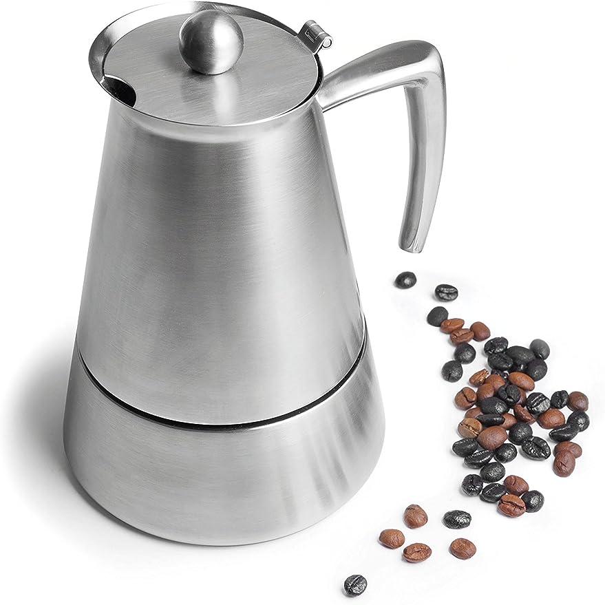 Lacor Luxe Cafetera 4 Tazas, Plata: Amazon.es: Hogar
