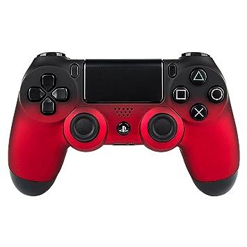eXtremeRate Carcasa Mando PS4 Funda Delantera Protectora de la Placa Frontal Cubierta Reemplazable Antideslizante para Mando del Playstation 4 PS4 ...