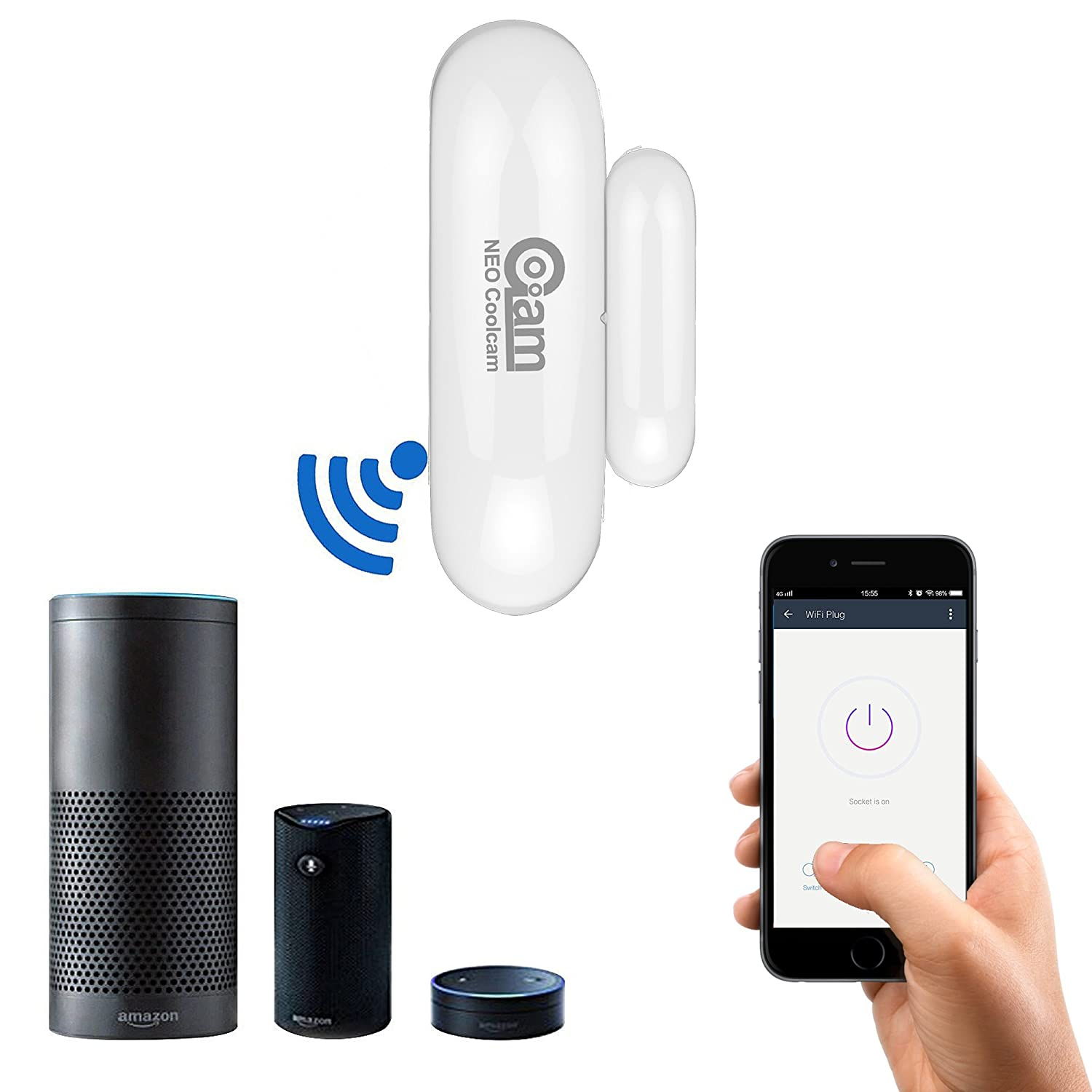 Coolcam Worlds Smallest Discreet Compact Door Window Sensor Easy Install Battery Operated NAS-DS01W Solotech