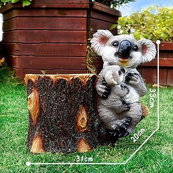 Figura Decorativa para jardín Simulación Exterior Koala Flor ...