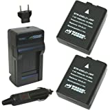 Wasabi Power Battery (2-Pack) and Charger for Nikon EN-EL21, MH-28 and Nikon 1 V2