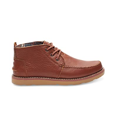 Toms Mens Chukka Boot - Brown Full Grain Leather - 9