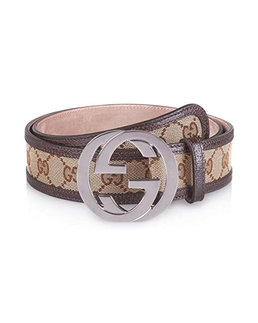 Gucci - Cinturón de piel para hombre DOUBLE G (114876F40IR9643) - marrón 12cb07f1e57