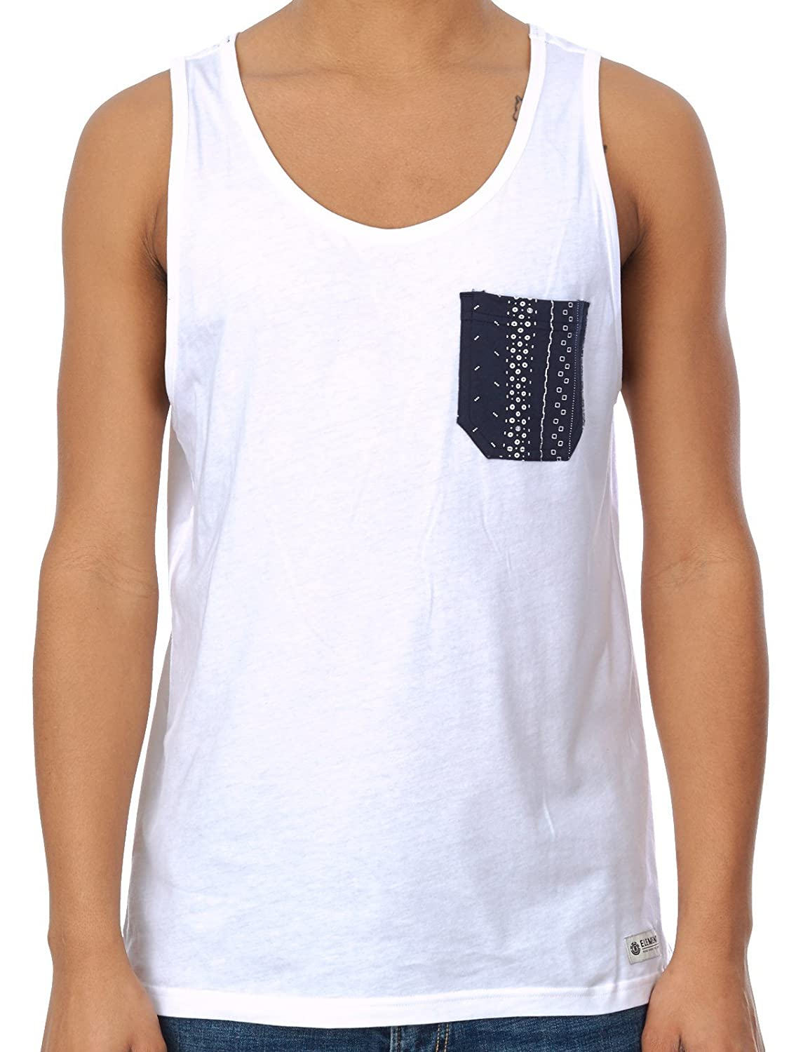 Element Optic White Anderson Pocket Tank Top