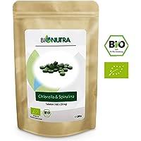 BioNutra Chlorella-Spirulina-Presslinge Bio 250 g, 1000 x 250 mg Tabletten, 100% rein & natürlich, rückstandskontrolliert, nach EU-ÖKO-Standard kultiviert und hergestellt