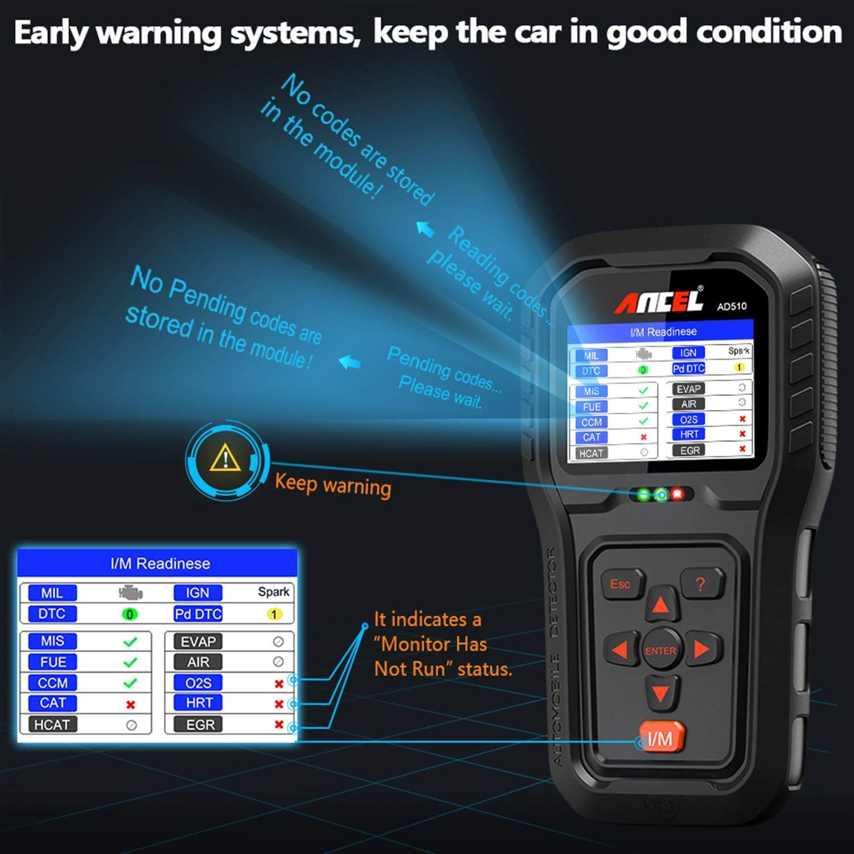 ANCEL AD510 Auto Diagnóstico del Coche OBD 2 Escáner Lector de ...