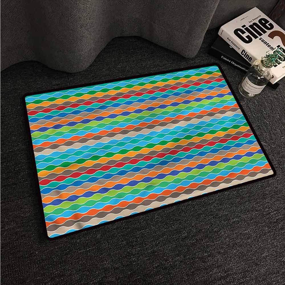 Amazon.com: VIVIDX Felpudo exterior, a rayas, formas ...