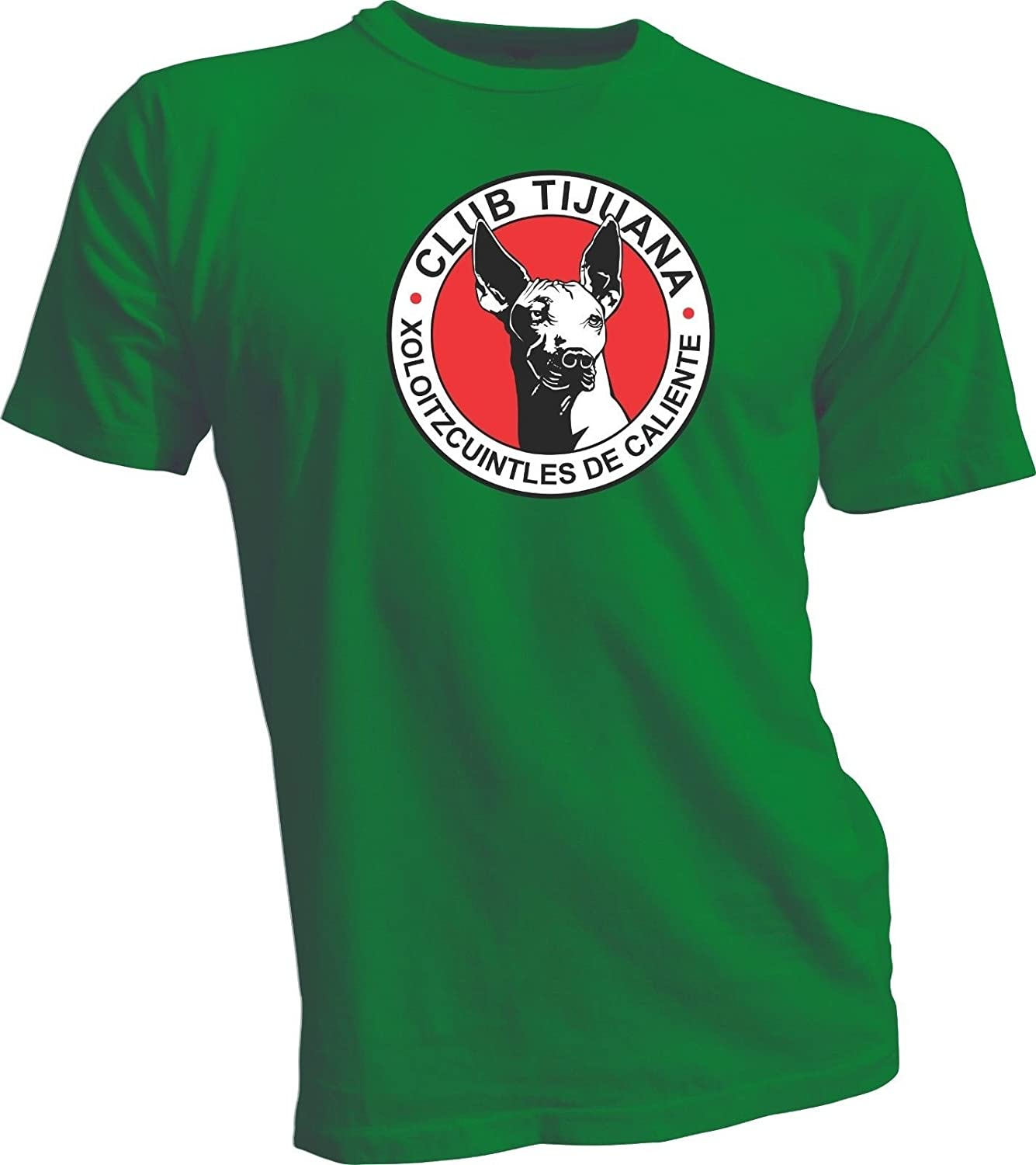 Amazon.com: XOLOS TIJUANA MEXICO Futbol Soccer Xoloitzcuintles Green T-SHIRT Camiseta NEW: Sports & Outdoors
