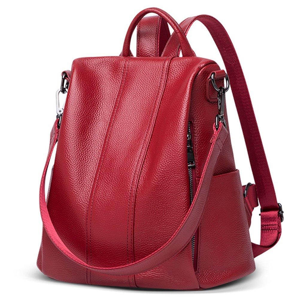 LoZoDo Women Backpack Purse Waterproof Anti-theft Rucksack Lightweight Shoulder School Bags for Girls (a-Red)