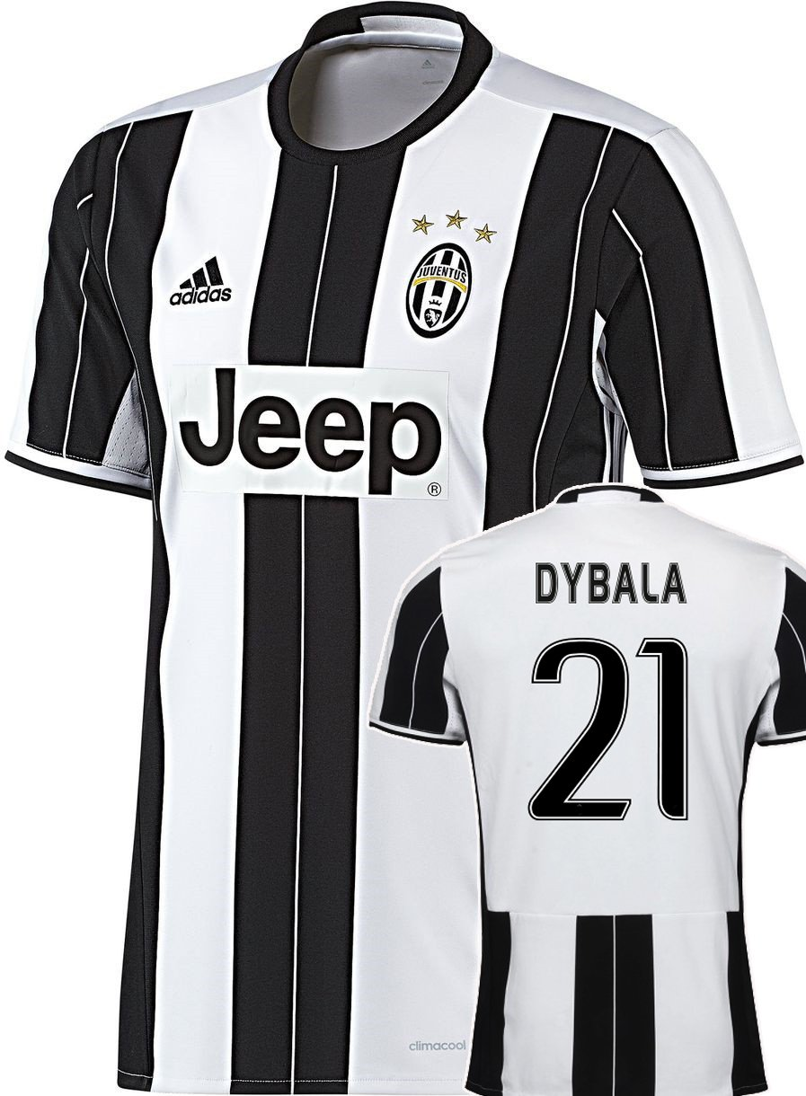 new style 31aae 51189 Juventus Home Shirt/17 9 176 11 with Free Flocking Dyballa ...