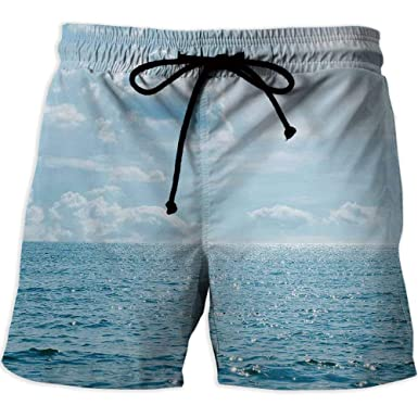 b5d70d9cfe Quick-Drying Swim Trunks Board Shorts with Pocket,CloudsQuick Dry Beach  Shorts with Pockets
