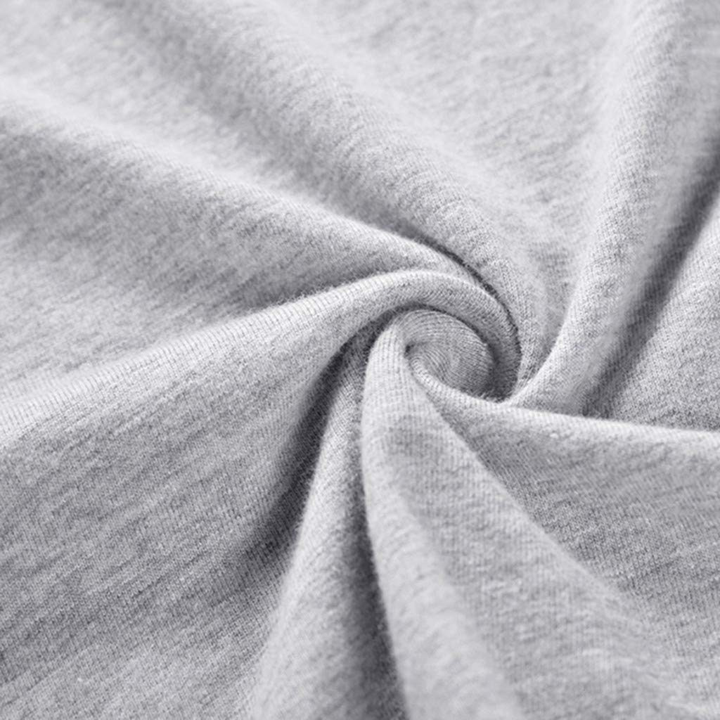 GREFER Men Tops Fashion Long Sleeve Tee Shirt Crew Neck Splicing Print Basic Blouses
