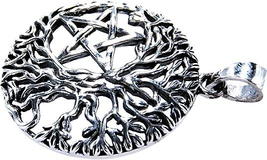 Árbol de Vida Colgante con pentagrama de plata de ley 925: Amazon ...
