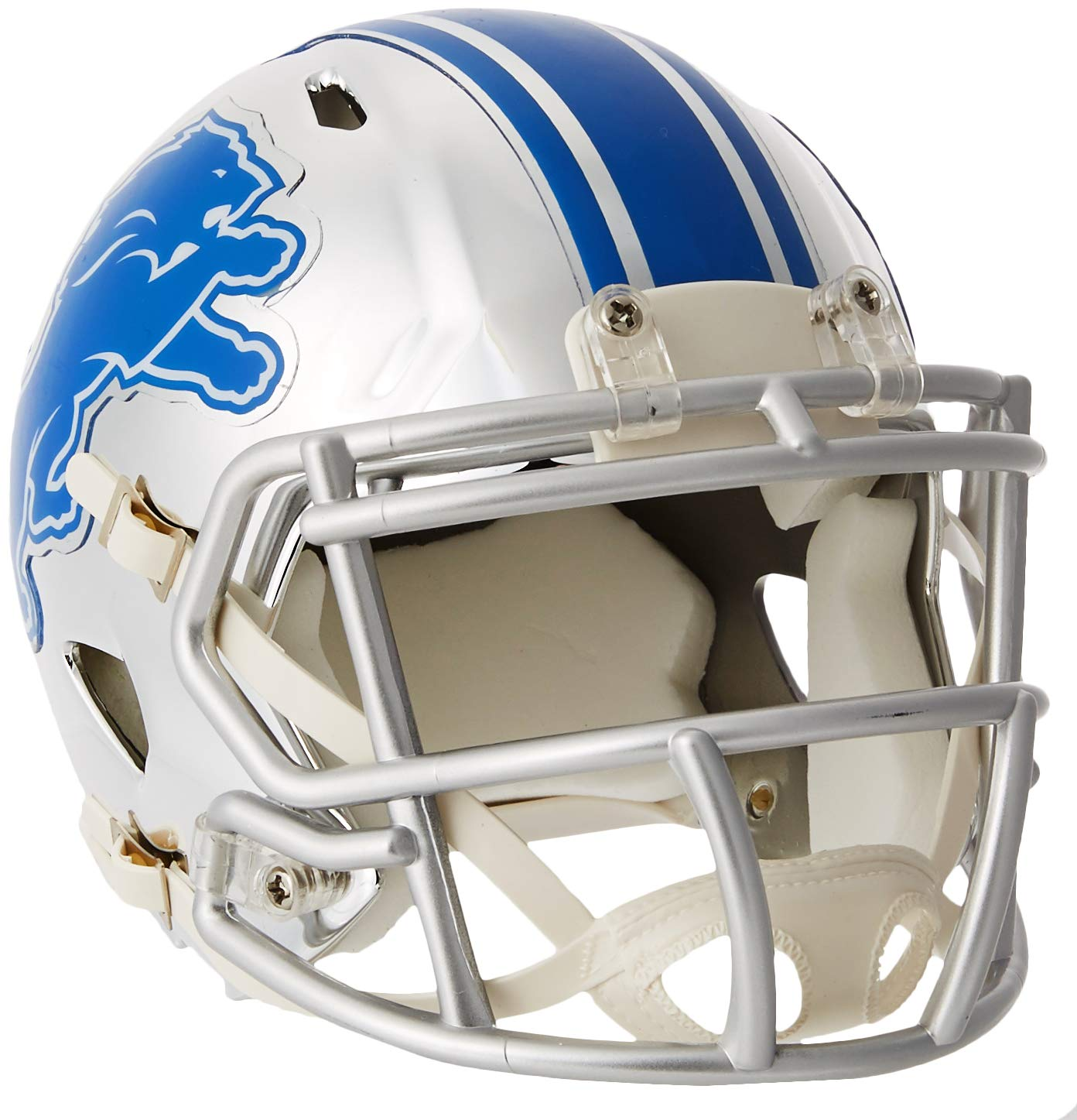 Riddell Detroit Lions NFL Chrome Alternate Speed Mini Helm RIDDCHMDET