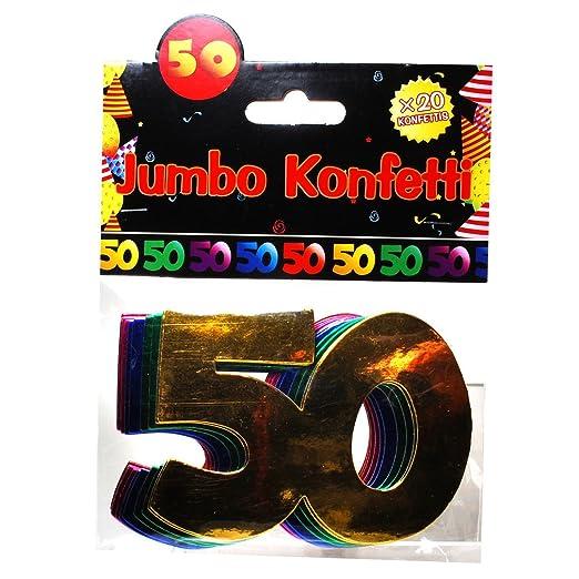 Jumbo Zahlen Konfetti 50 Geburtstag Dekoration Party Tischdeko Bunt