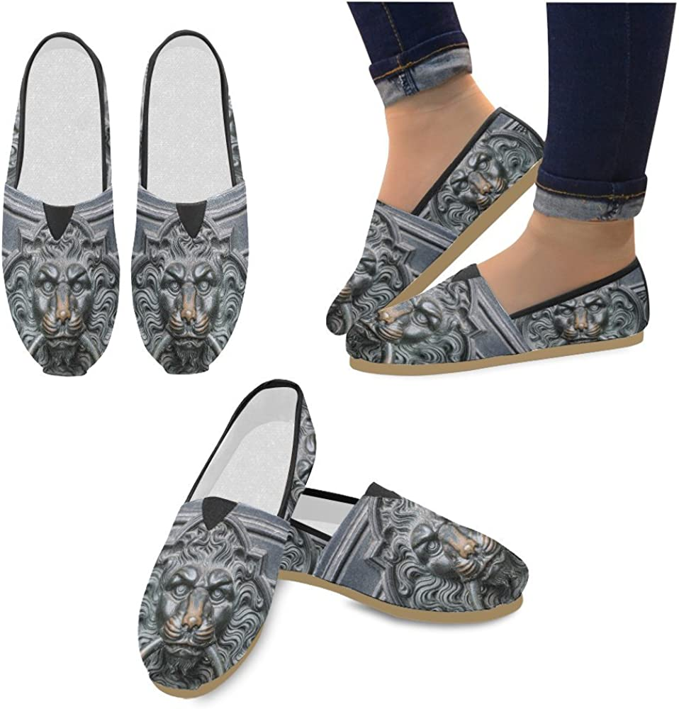 InterestPrint Flower Jeans Loafers Casual Shoes for Men Women