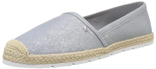 Tommy Hilfiger Int-l1285isa 2s, Alpargatas para Mujer, Plateado (Argento), 41 EU: Amazon.es: Zapatos y complementos