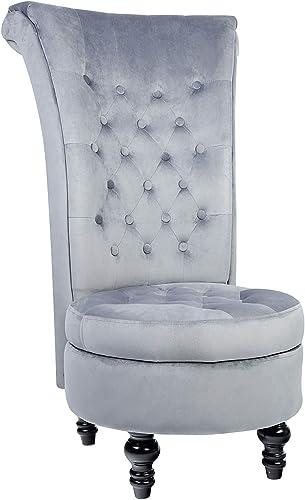 MU Royal Velvet High Back Armless Chair