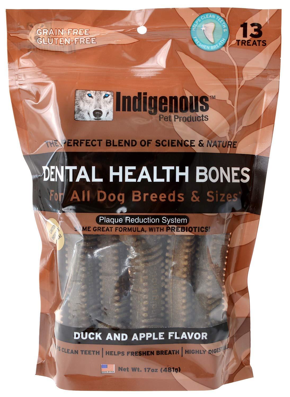 Indigenous Dental Health Bones Duck and Apple Flavor 17 Ounces