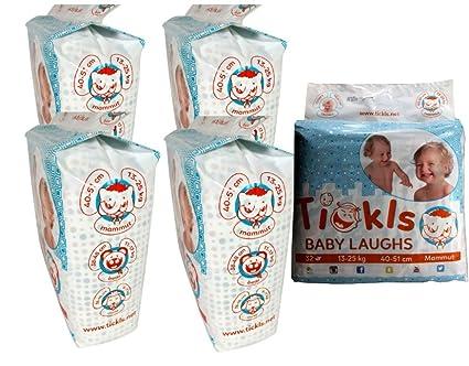 Pañales en caja de meses tickls Mammut tamaño 6 para niños pequeños de 13 – 25