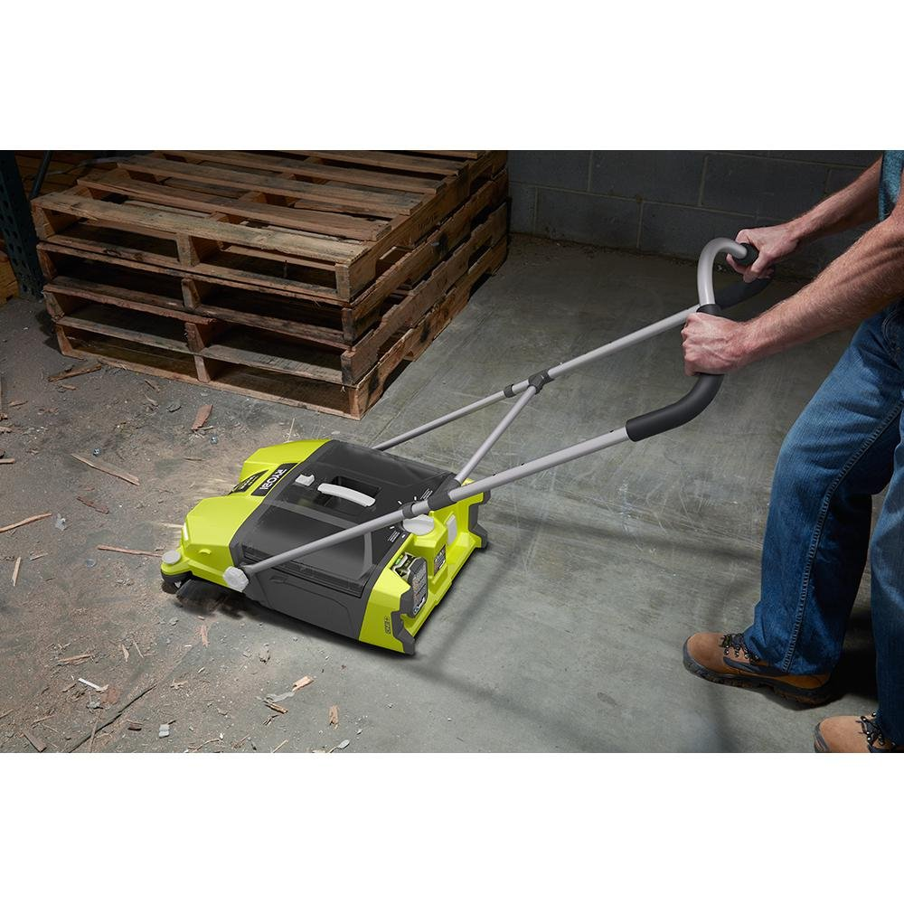 Ryobi 18-Volt 4.5 Gal. Devour Debris Sweeper (Tool-Only) P3260 and Toucan City Nitrile Dip Gloves 5-Pack by Toucan City (Image #8)