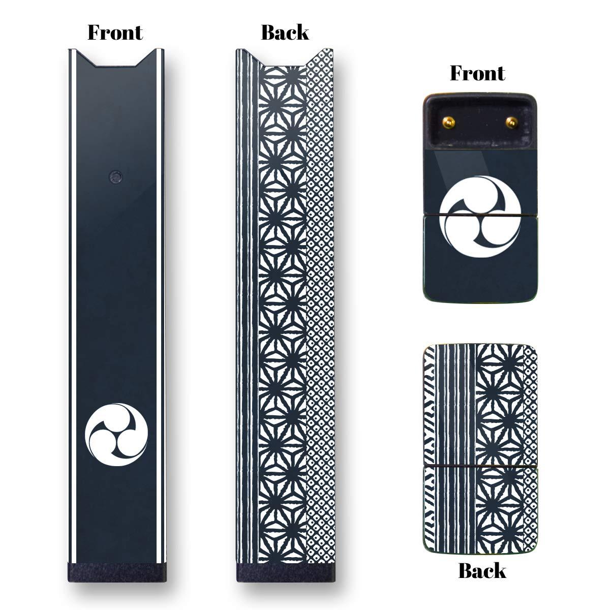 Amazon com 2 pack juul skin juul custom juul wrap juul sticker japanese kamon mitsudomoe blue back cell phones accessories