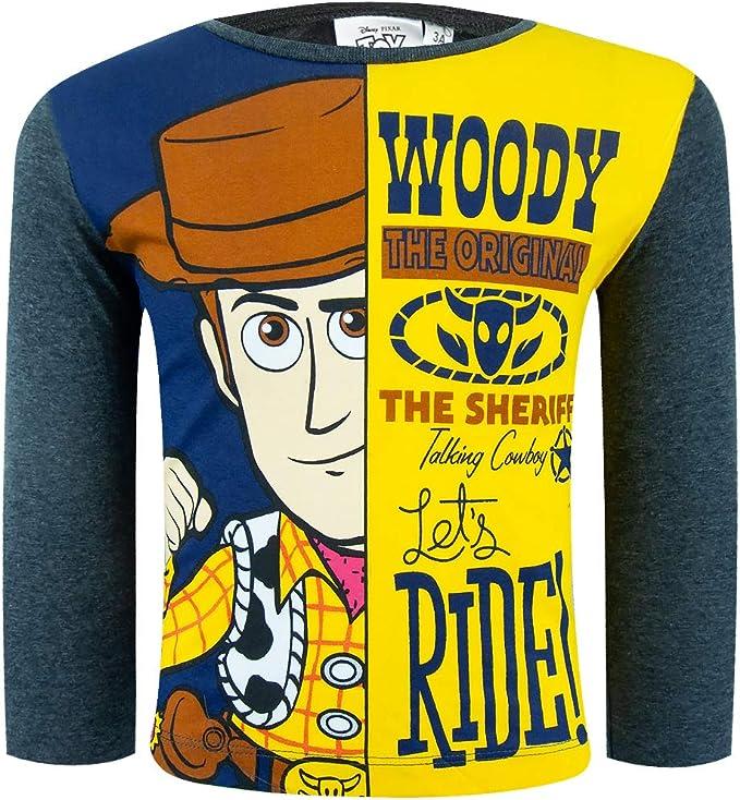 Disney Toy Story 4 Camiseta de manga larga 100% algodón con ...