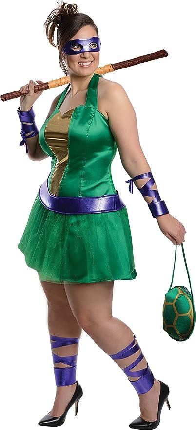 Disfraz de Donatello de las Tortugas Ninja para mujer talla grande ...
