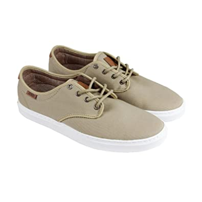 a40ed2f79afe90 Vans Ludlow + T L Khaki White Men s Classic Skate Shoes Size 7.5