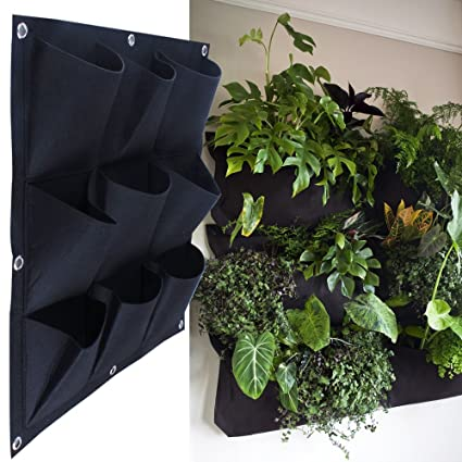 Awesome MEIWO 9 Pocket Hanging Vertical Garden Wall Planter For Yard Garden Home  Decoration