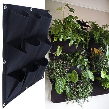 Meiwo 9 Pocket Hangende Vertikal Garten Wand Pflanzer Fur Yard