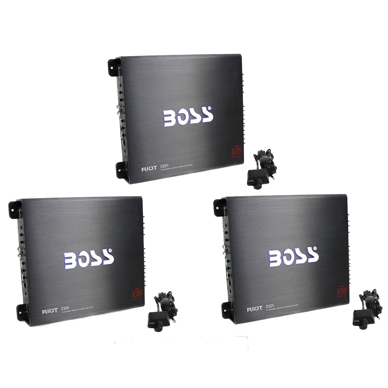 最高級のスーパー BOSS Audio R3004 1200W 4チャンネル カーアンプ パワーステレオアンプ+リモート (3個パック)   B07JHV7C3M, アクアランド まっかちん 707a5c8b