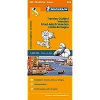 Michelin Trentino-Südtirol,Venetien, Friaul-Julisch Venetien, Emilia Romagna: Straßen- und Tourismuskarte 1:400.000 (MICHELIN Regionalkarten, Band 562)