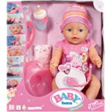 Baby Born Interactive Doll – 30878 – Daughter – 9 Functions and 11 accessories