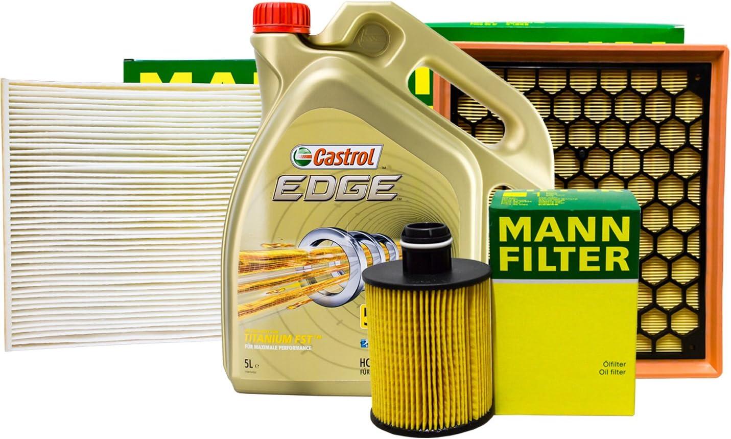 Mann Filter Set Inspektionspaket 5l Castrol 5w 30 Auto
