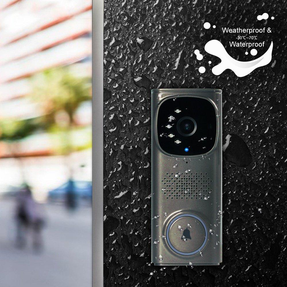 PHYSEN WiFi Camera Waterproof Doorbell kit with 1 Outdoor Wired ...