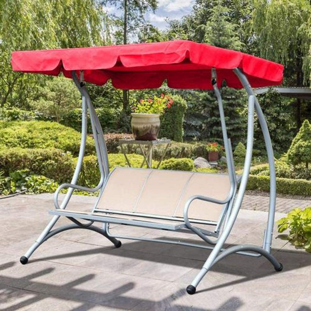 3-Seat Outdoor Swing Cover Replacement Canopy Porch Top Cover Multicolor Optional for Backyard Garden Patio Yard Waterproof UV Blocking Sunshade