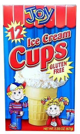 Joy Cone GLUTEN - Vasos para helado (12 unidades, 2 unidades ...