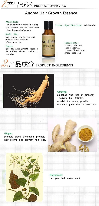 Amazon.com : Andrea Hair Fast Growth Essence Oil Hair Loss Liquid Dense Anti Hair Loss Products Care Fluid 20ml*3Pcs : Beauty