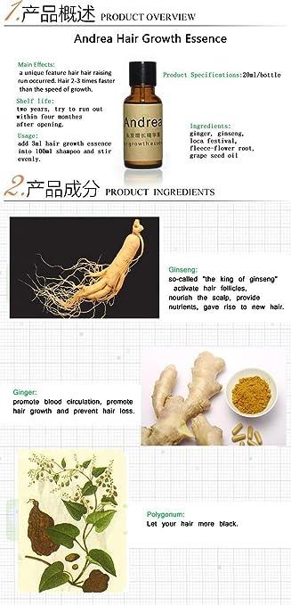 Amazon.com: Andrea Hair Fast Growth Essence Oil - Hair Loss Liquid Dense Anti Hair Loss Products Care Fluid 20ML: Beauty