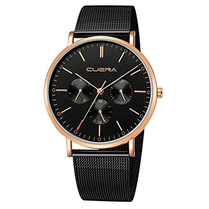 freedomer Fashion Mens Watch Slim Mesh Steel Waterproof Clock Man Minimalist Business Military Watch Wrist Watches