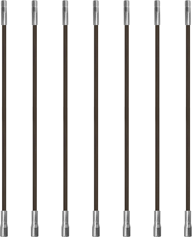 Chromex 7 Piece 3 Foot Chimney Rod Kit 21 Foot Strong Fiberglass Rod Kit Standard 1//4 NPT Fittings
