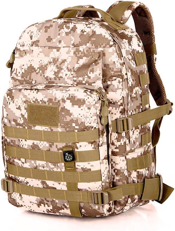 Unisex 900D Nylon MOLLE Militar Mochila para Senderismo Monta/ñismo Camping Caza Viaje Athyior 40L Mochila T/áctica Impermeable