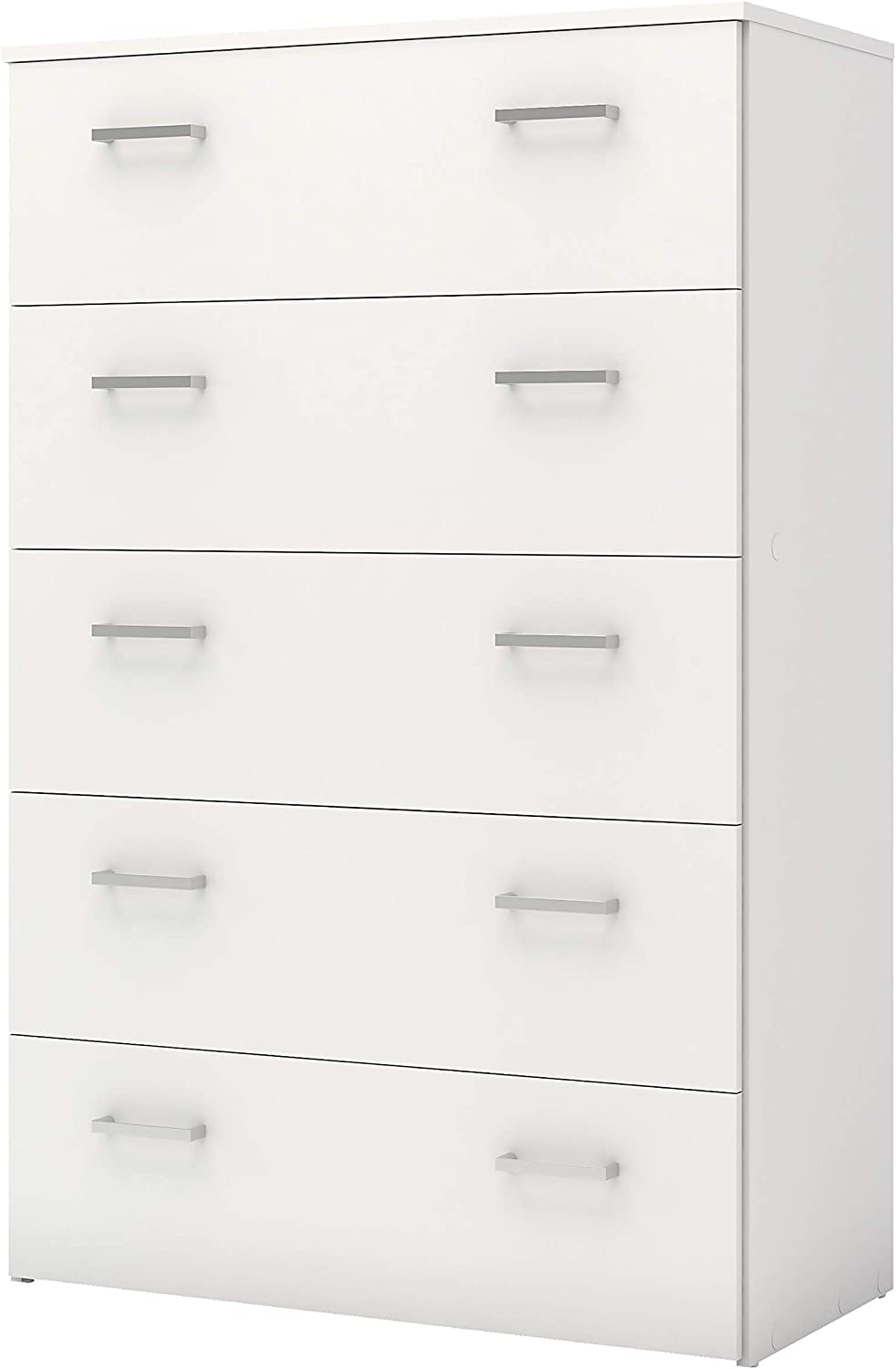 Furniture To Go Space Wardrobe 2 Doors 3 Drawers in Oak with White High Gloss