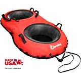 Bradley Ultimate Towable Snow Tube Sled | Inflatable Sledding Tube | Made in USA