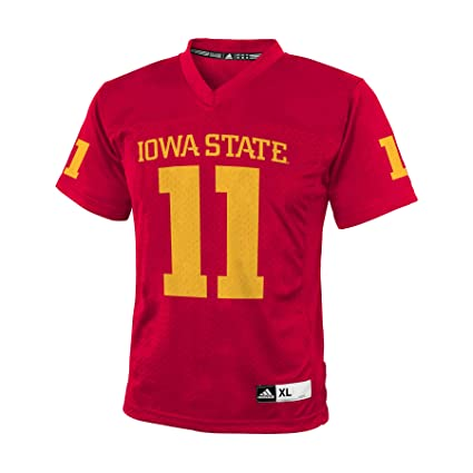 buy popular 2242e 5cd56 Amazon.com : adidas NCAA Iowa State Cyclones # 11 Youth Boys ...